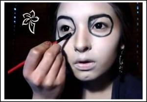 De La Catrina Mexicana Maquillaje